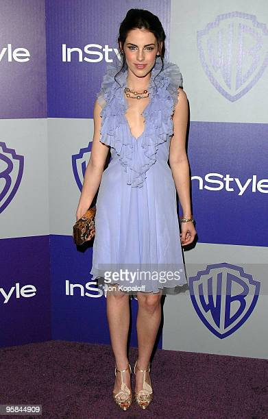 Actress Jessica Lowndes arrives at the Warner Brothers/InStyle Golden Globes After Party at The Beverly Hilton Hotel on January 17 2010 in Beverly...