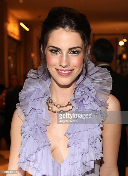 Actress Jessica Lowndes attends AMC's Golden Globes viewing party at The Beverly Hilton Hotel on January 17 2010 in Beverly Hills California