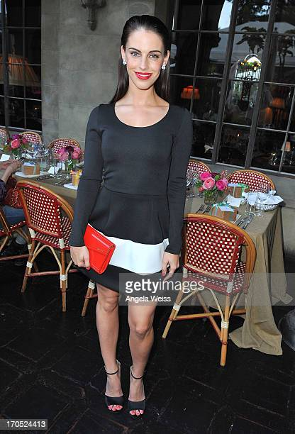 Actress Jessica Lowndes attends Lucky Brand's Measure of Style Dinner at Chateau Marmont on June 13 2013 in Los Angeles California