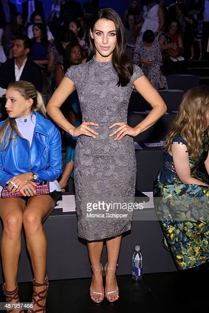 Actress Jessica Lowndes attends Monique Lhuillier Spring 2016 during New York Fashion Week The Shows at The Arc Skylight at Moynihan Station on...