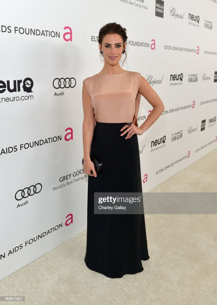 Actress Jessica Lowndes attends Neuro at 21st Annual Elton John AIDS Foundation Academy Awards Viewing Party at West Hollywood Park on February 24, 2013 in West Hollywood, California.