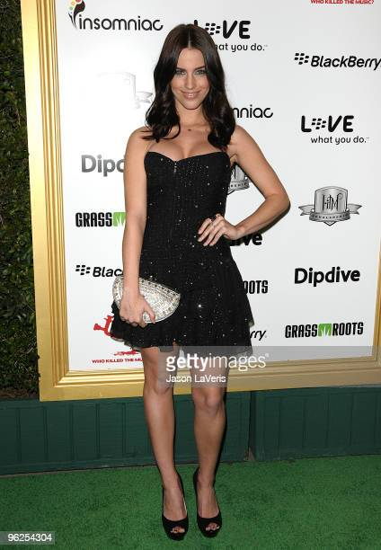 Actress Jessica Lowndes attends the 1st annual Data Awards at Hollywood Palladium on January 28 2010 in Hollywood California