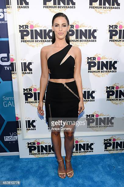 Actress Jessica Lowndes attends the 2014 Young Hollywood Awards brought to you by Mr Pink held at The Wiltern on July 27 2014 in Los Angeles...