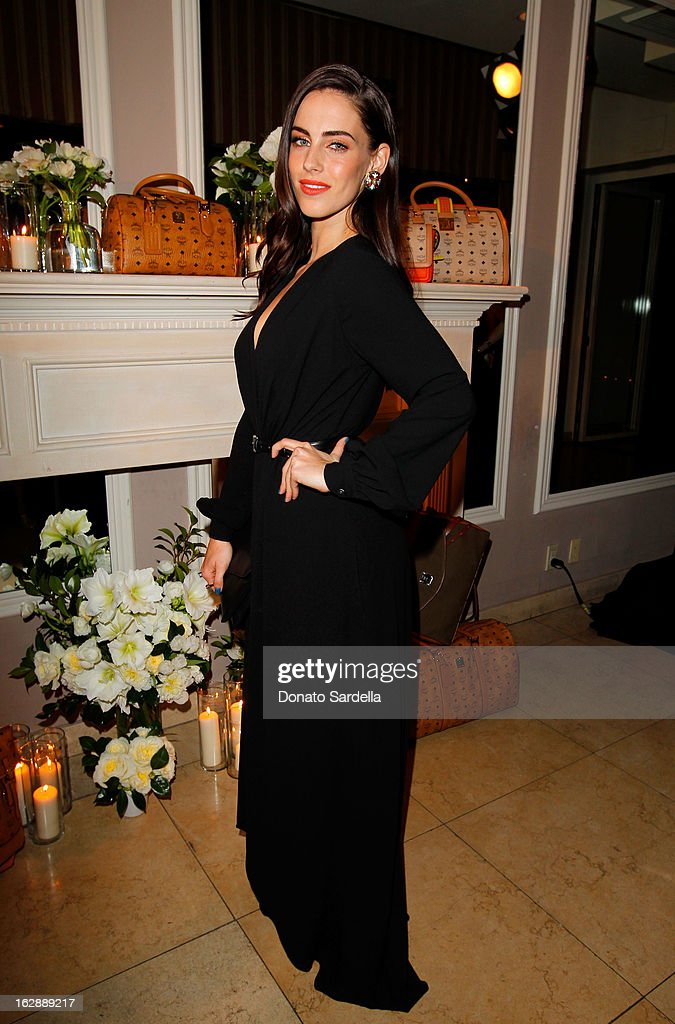 Actress Jessica Lowndes attends the Dukes Of Melrose launch hosted by Decades, Harper's BAZAAR, and MCM on February 28, 2013 in Los Angeles, California.