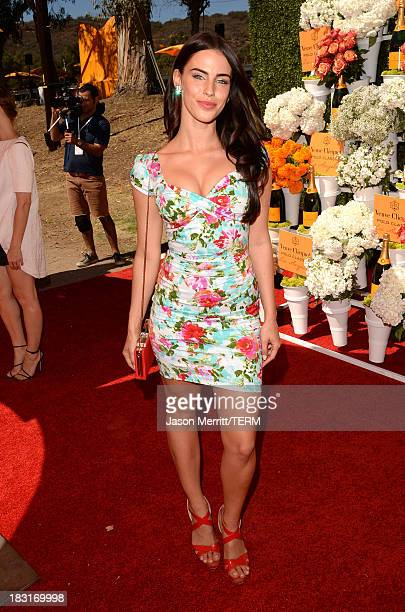 Actress Jessica Lowndes attends The FourthAnnual Veuve Clicquot Polo Classic Los Angeles at Will Rogers State Historic Park on October 5 2013 in...
