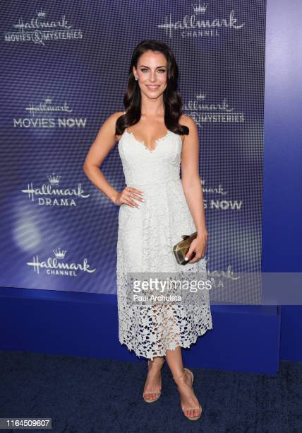 Actress Jessica Lowndes attends the Hallmark Channel and Hallmark Movies Mysteries summer 2019 TCA press tour event at a Private Residence on July 26...
