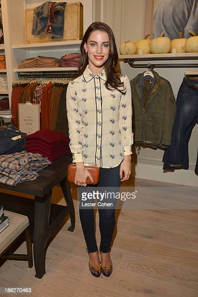 Actress Jessica Lowndes attends the Lucky Brand Beverly Hills store opening on October 29 2013 in Beverly Hills California