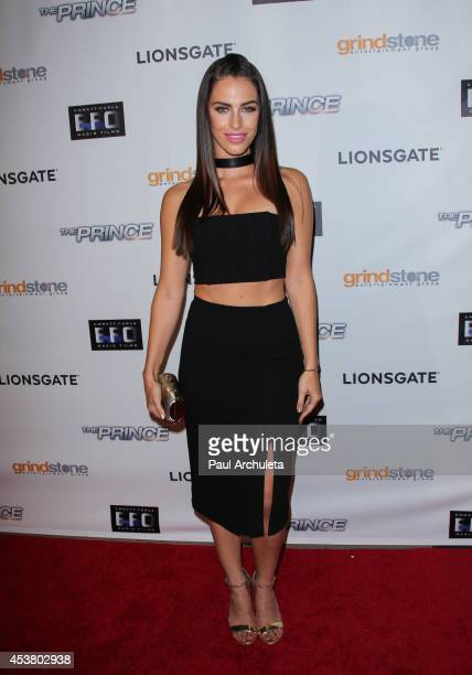 "Actress Jessica Lowndes attends the premiere of ""The Prince"" at TCL Chinese 6 Theatres on August 18, 2014 in Hollywood, California."