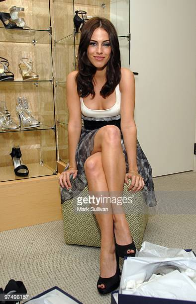 Actress Jessica Lowndes attends the Stuart Weitzman Oscar styling suite at The London Hotel on March 6 2010 in West Hollywood California