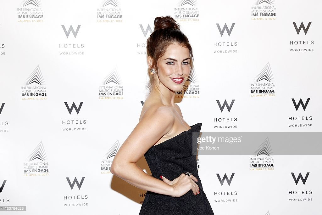 Actress Jessica Lowndes attends the W Hollywood Kicks Off IMS Engage With Symmetry at W Hollywood on April 16, 2013 in Hollywood, California.