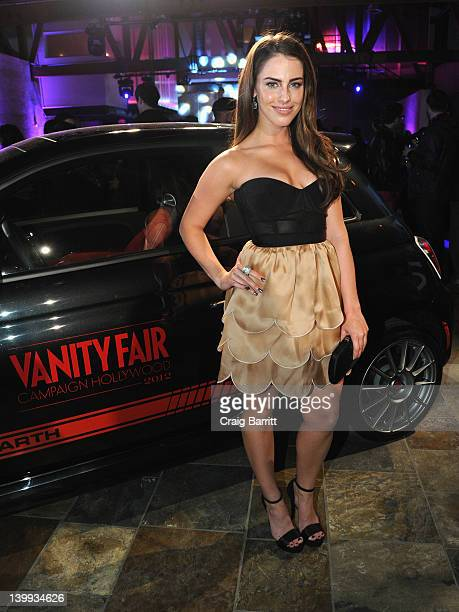 Actress Jessica Lowndes attends Vanity Fair L'Oréal Paris Fiathosted DJ Night in support of The Pablove Foundation on Saturday on February 25 2012 in...