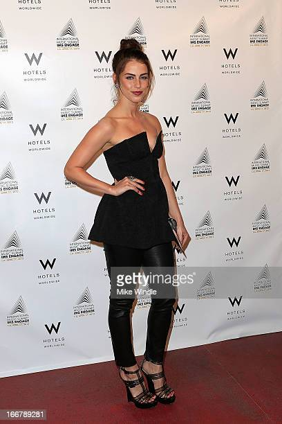 Actress Jessica Lowndes attends W Hotels kicks off IMS Engage with Symmetry live performance by FOXES at Drai's Private Lounge at W Hollywood on...
