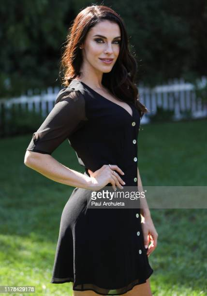 "Actress Jessica Lowndes visits Hallmark Channel's ""Home & Family"" at Universal Studios Hollywood on October 01, 2019 in Universal City, California."