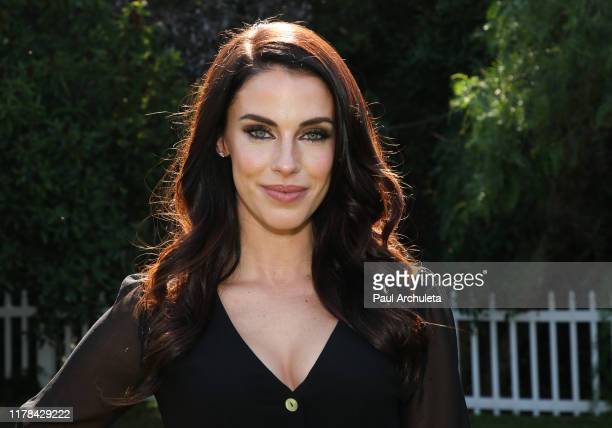 Actress Jessica Lowndes visits Hallmark Channel's Home Family at Universal Studios Hollywood on October 01 2019 in Universal City California