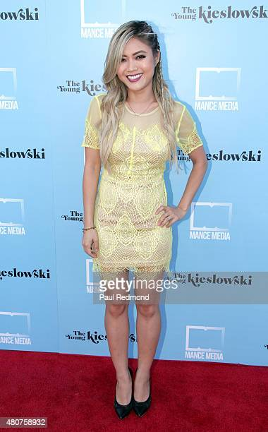 Actress Jessica Lu attends the screening of Mance Media's 'The Young Kieslowski' at the Vista Theatre on July 14 2015 in Los Angeles California