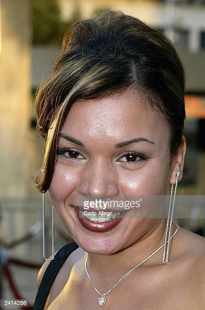 Actress Jessica Lugo arrives for the premiere of the movie Wasabi Tuna at the Arclight Theater on August 20 2003 in Hollywood