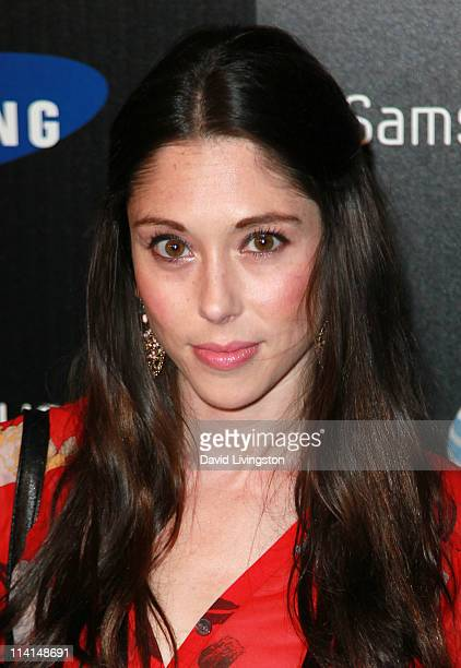 Actress Jessica Luza attends the Samsung Infuse 4G launch event featuring Nicki Minaj at Milk Studios on May 12 2011 in Los Angeles California