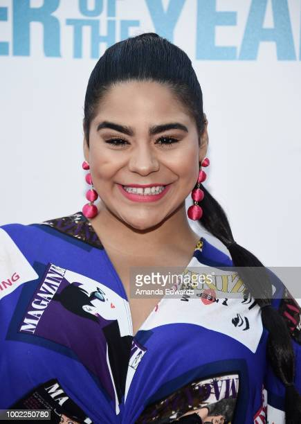 Actress Jessica Marie Garcia arrives at a special screening of Netflix's 'Father Of The Year' at ArcLight Hollywood on July 19 2018 in Hollywood...