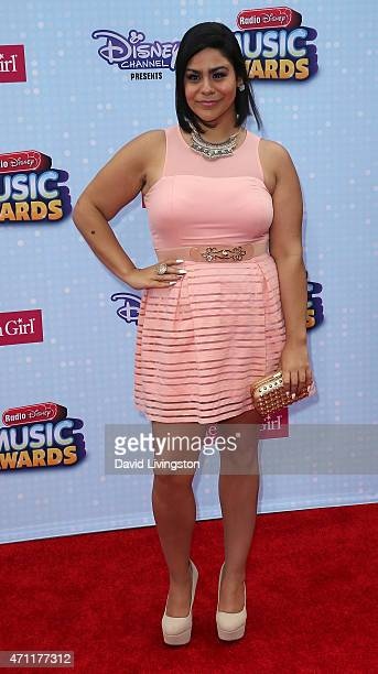 Actress Jessica Marie Garcia attends the 2015 Radio Disney Music Awards at Nokia Theatre LA Live on April 25 2015 in Los Angeles California