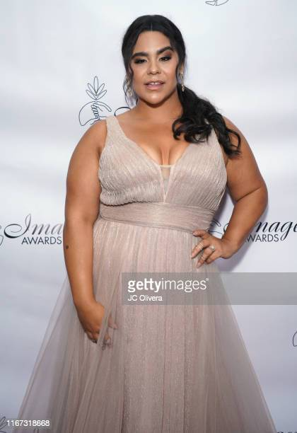 Actress Jessica Marie Garcia attends the 34th Annual Imagen Awards at the Beverly Wilshire Four Seasons Hotel on August 10 2019 in Beverly Hills...