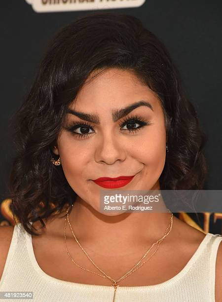 Actress Jessica Marie Garcia attends the premiere of Disney Channel's Descendants at Walt Disney Studios on July 24 2015 in Burbank California