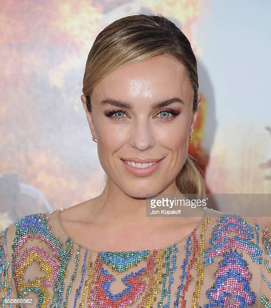 Actress Jessica McNamee arrives at the Los Angeles Premiere CHiPS at TCL Chinese Theatre on March 20 2017 in Hollywood California