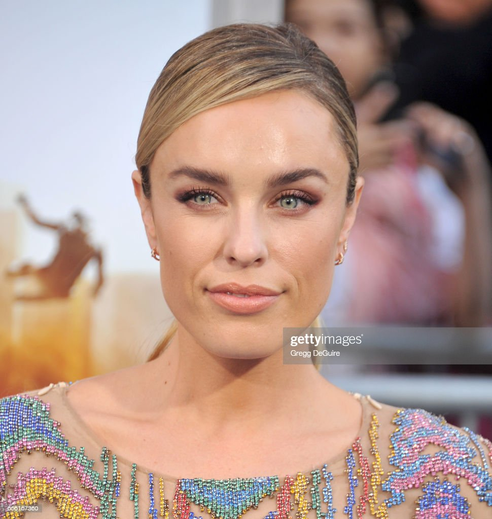 Actress Jessica McNamee arrives at the premiere of Warner Bros. Pictures' 'CHiPS' at TCL Chinese Theatre on March 20, 2017 in Hollywood, California.