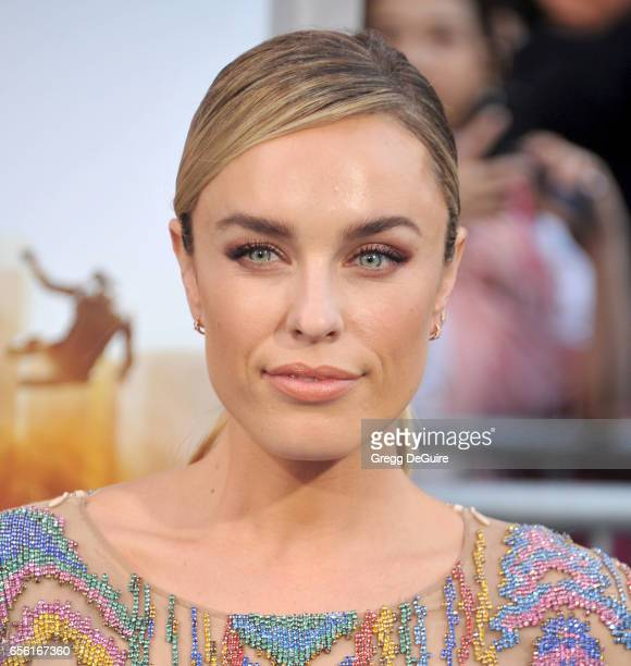 Actress Jessica McNamee arrives at the premiere of Warner Bros Pictures' CHiPS at TCL Chinese Theatre on March 20 2017 in Hollywood California