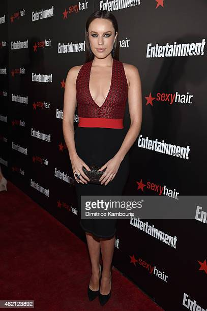 Actress Jessica McNamee attends Entertainment Weekly's celebration honoring the 2015 SAG awards nominees at Chateau Marmont on January 24 2015 in Los...