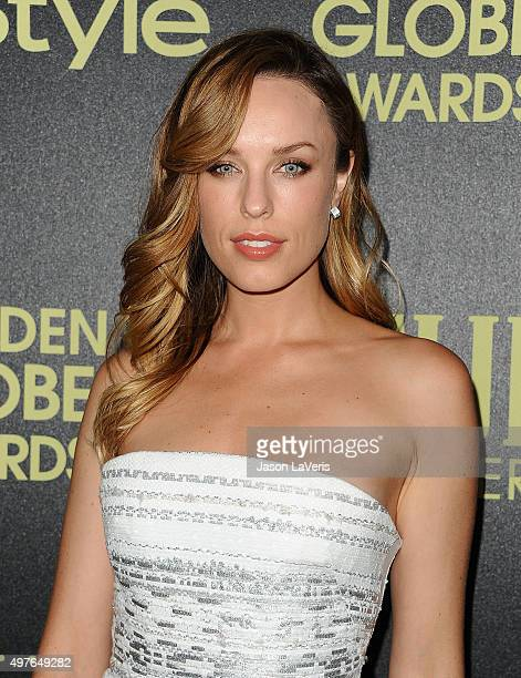 Actress Jessica McNamee attends the Hollywood Foreign Press Association and InStyle's celebration of the 2016 Golden Globe award season at Ysabel on...