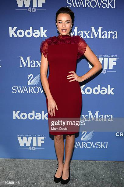 Actress Jessica McNamee attends Women In Film's 2013 Crystal Lucy Awards at The Beverly Hilton Hotel on June 12 2013 in Beverly Hills California