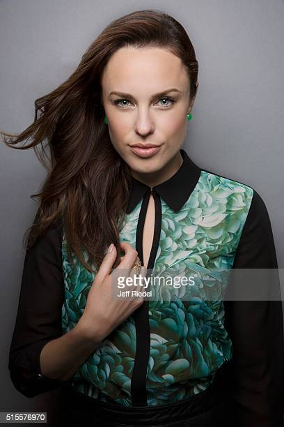 Actress Jessica McNamee is photographed for TV Guide Magazine on January 15 2015 in Pasadena California