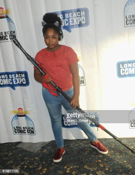 Actress Jessica Mikayla Adams attends day 1 of the 8th Annual Long Beach Comic Expo held at Long Beach Convention Center on February 17 2018 in Long...