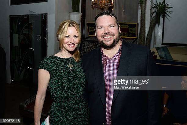 Actress Jessica Morris and author MJ Dougherty attend MJ Dougherty's 'Life Lessons from a Total Failure' book launch party at The Sandbox on August...