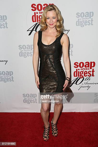Actress Jessica Morris arrives at the 40th Anniversary of the Soap Opera Digest at The Argyle on February 24 2016 in Hollywood California