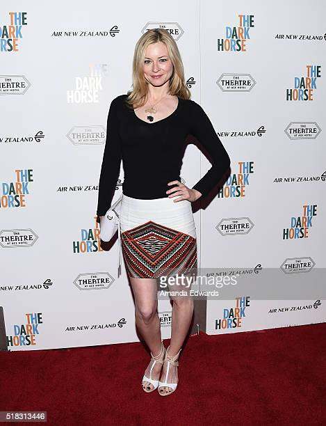 Actress Jessica Morris arrives at the premiere of Broad Green Pictures' The Dark Horse at The Theatre at Ace Hotel on March 30 2016 in Los Angeles...