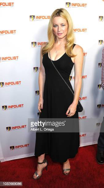 Actress Jessica Morris arrives for the INFOListcom PreEmmy Soiree held at SkyBar at the Mondrian Los Angeles on September 12 2018 in West Hollywood...