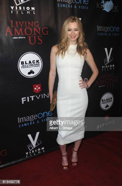Actress Jessica Morris arrives for the premiere of Living Among Us held at Ahrya Fine Arts Theater on February 1 2018 in Beverly Hills California