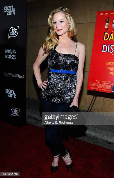Actress Jessica Morris arrives to the Premiere of Sony Pictures Classics' Damsels In Distress at the Egyptian Theatre on March 21 2012 in Hollywood...