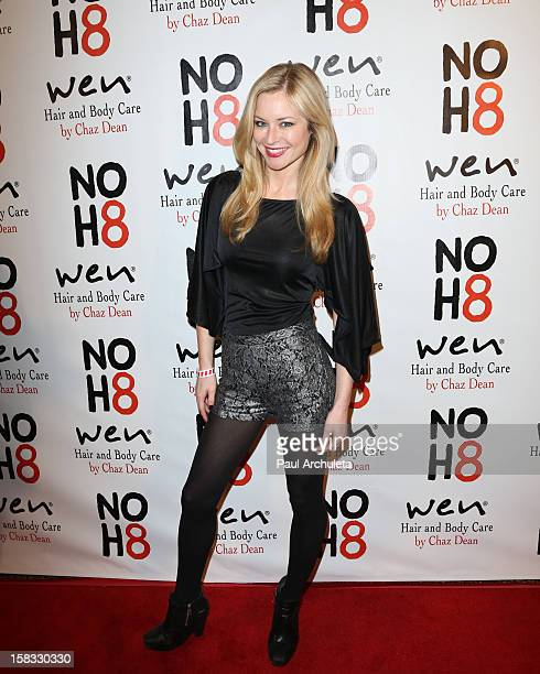 Actress Jessica Morris attends 4th anniversary NOH8 campaign celebration at Avalon on December 12 2012 in Hollywood California