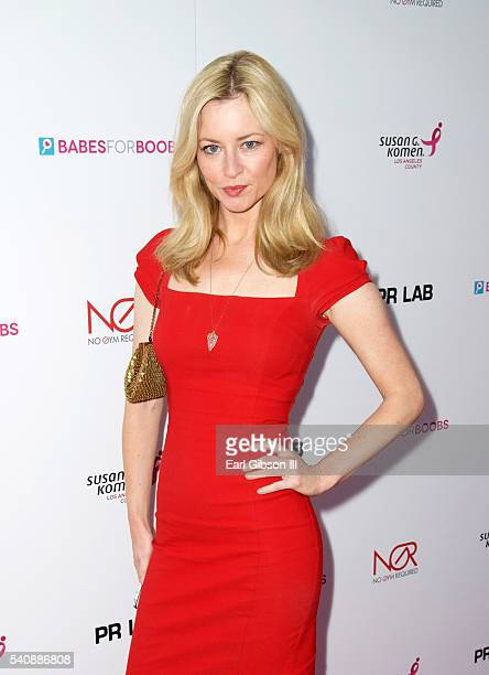 Actress Jessica Morris attends Babes For Boobs Bachelor Auction Benefitting The Los Angeles Affiliate of Susan G Komen on June 16 2016 in Los Angeles...