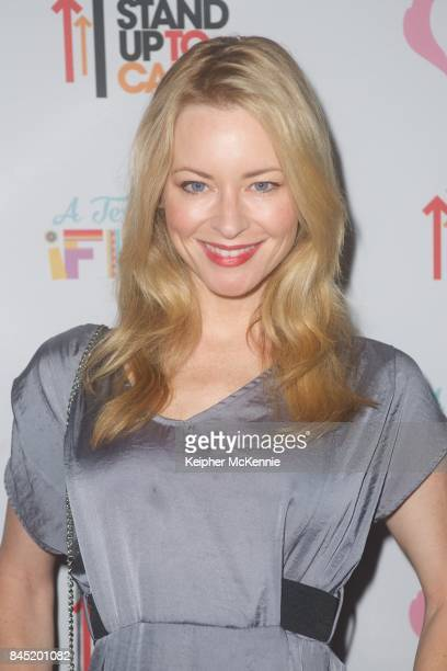 Actress Jessica Morris attends Farrah Fawcett Foundation's TexMex Fiesta honoring Stand Up To Cancer at Wallis Annenberg Center for the Performing...