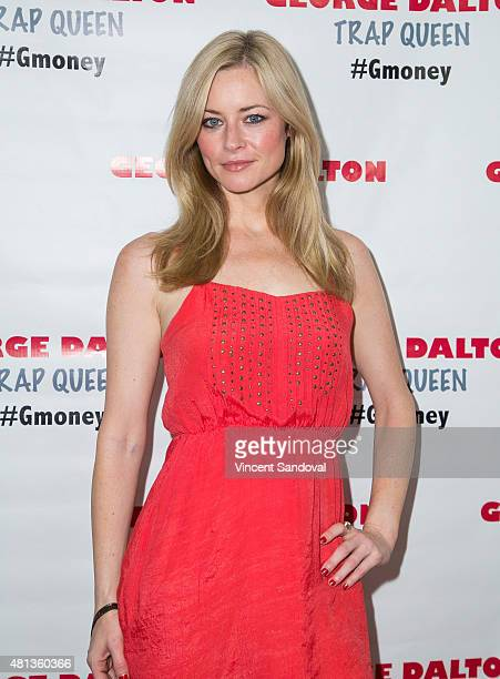 Actress Jessica Morris attends George Dalton's Trap Queen music video launch party at Dave Busters on July 19 2015 in Hollywood California