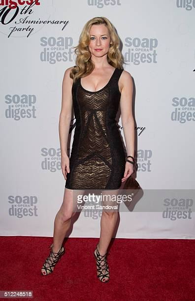 Actress Jessica Morris attends Soap Opera Digest Celebrates 40th Anniversary at The Argyle on February 24 2016 in Hollywood California