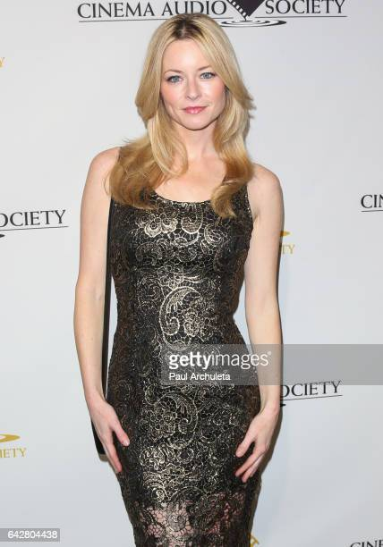 Actress Jessica Morris attends the 53rd Annual Cinema Audio Society Awards at Omni Los Angeles Hotel at California Plaza on February 18 2017 in Los...
