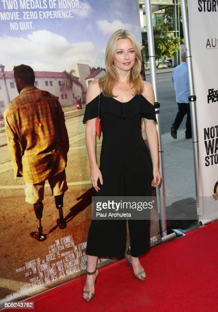 Actress Jessica Morris attends the Academy Of United States Veterans world premiere of Not A War Story at Samuel Goldwyn Theater on June 30 2017 in...