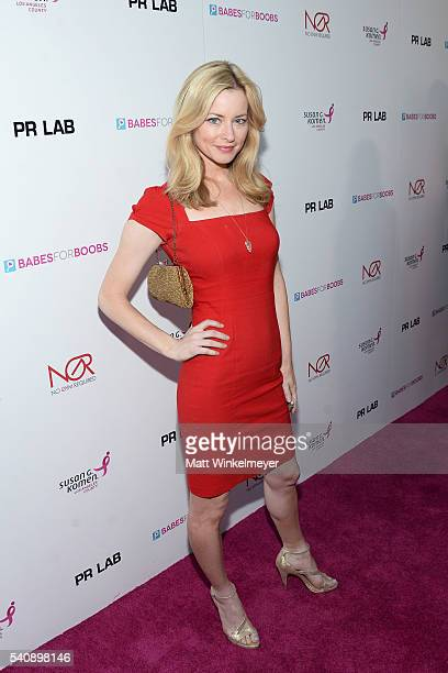 Actress Jessica Morris attends the Babes for Boobs Bachelor Auction benefitting the Los Angeles County Affiliate of Susan G Komen on June 16 2016 in...
