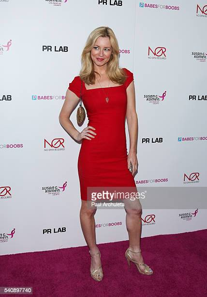 Actress Jessica Morris attends The Babes For Boobs charity event benefitting the Los Angeles county affiliate of the Susan G Komen foundation on June...