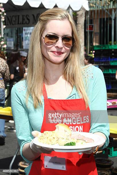 Actress Jessica Morris attends the Los Angeles Mission Easter Event held at the Los Angeles Mission on April 3 2015 in Los Angeles California
