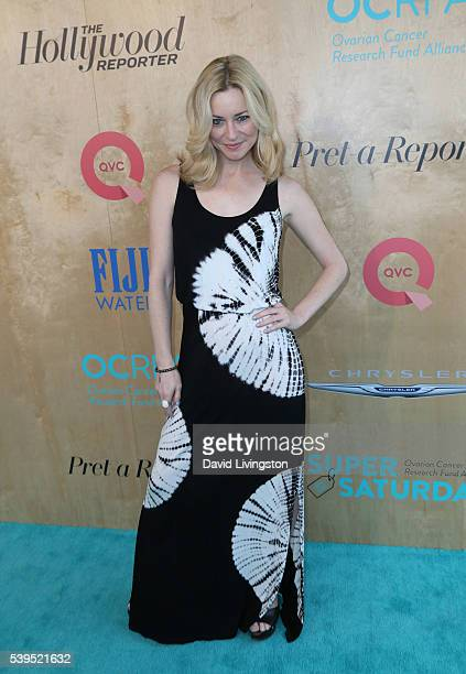 Actress Jessica Morris attends the Ovarian Cancer Research Fund Alliance's 3rd Annual Super Saturday Los Angeles at Barker Hangar on June 11 2016 in...
